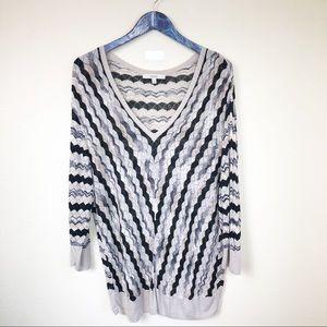 Sejour Knit Crochet 3/4 sleeve Blouse